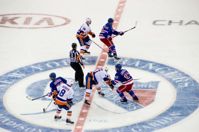 Match de hockey sur glace au Madison Square Garden