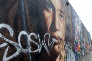 Mur de street art à Bushwick