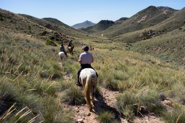 A cheval dans le parc naturel Cabo de Gata