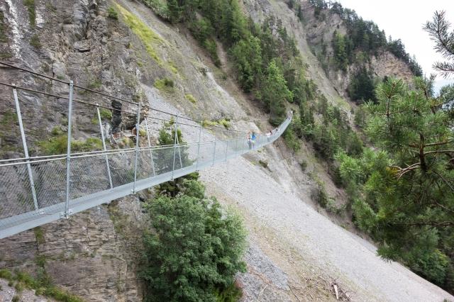 Pont suspendu du bisse de Savièse