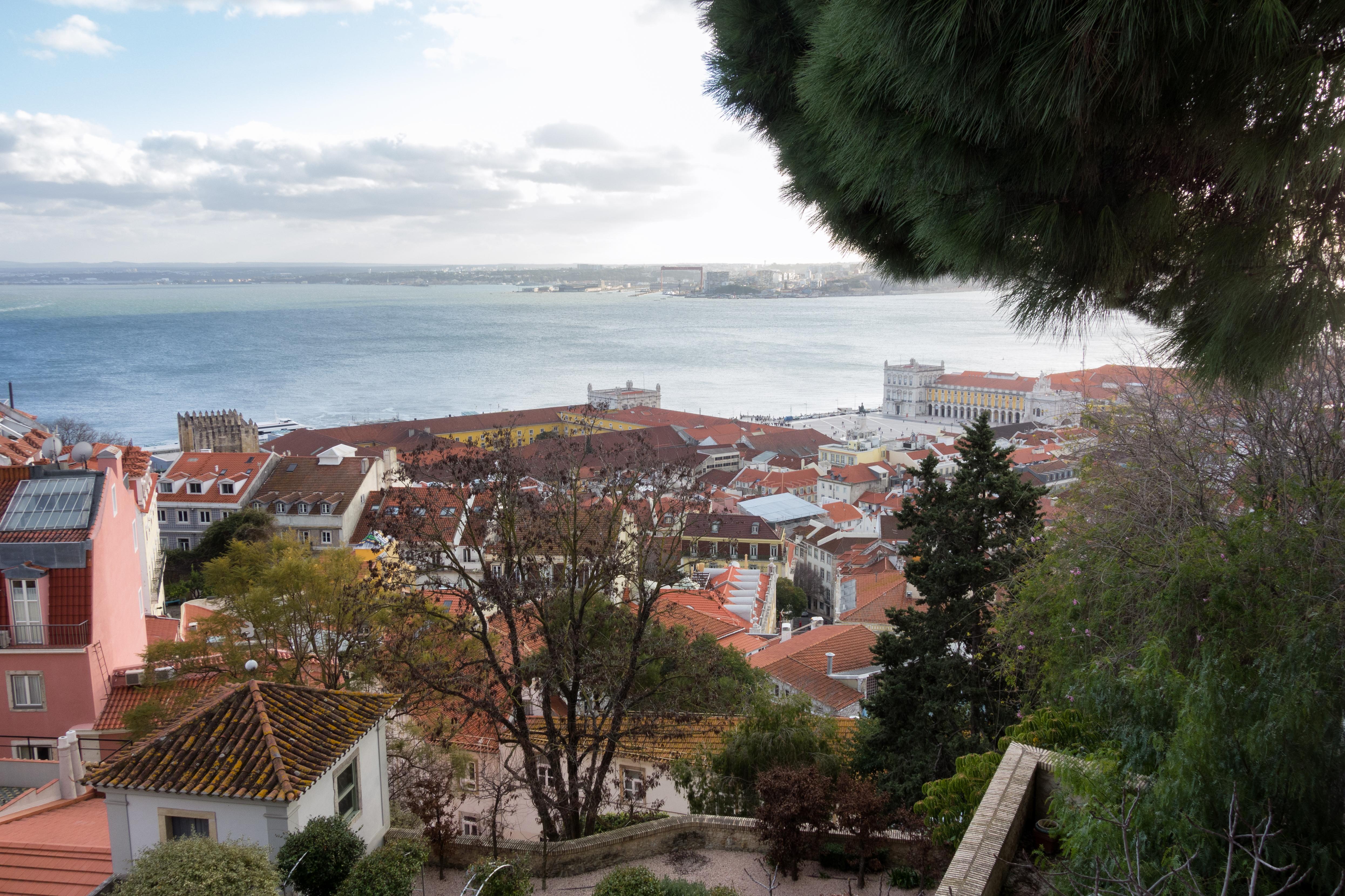 Lisbonne - Vue du château Saint Georges